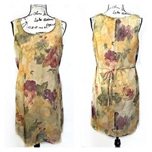 Christy Lyn Sleeveless Lg.Floral Print Dress Sz7/8